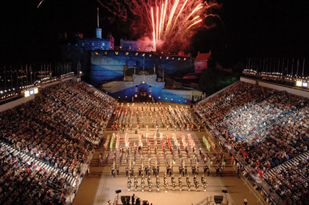 coach concerts themed events edinburgh military tattoo
